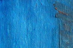 Acryl blauwe geschilderde canvasachtergrond Royalty-vrije Stock Afbeeldingen