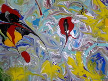 Acryl farbige abstrakte Malerei Lizenzfreies Stockbild