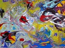 Acryl farbige abstrakte Malerei Stockfotografie