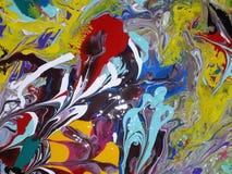 Acryl farbige abstrakte Malerei Lizenzfreies Stockfoto