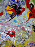 Acryl farbige abstrakte Malerei Lizenzfreie Stockfotografie