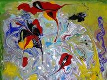 Acryl farbige abstrakte Malerei Lizenzfreie Stockfotos
