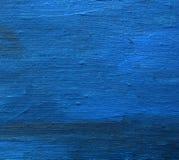 Acryl gemalter Kunstleinensegeltuch-Blauhintergrund Stockfotos