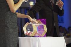 Acryl loterijtrommel Royalty-vrije Stock Fotografie