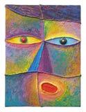Acryl op canvas Royalty-vrije Stock Fotografie