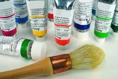 Acrylanstrichhilfsmittel Stockfoto