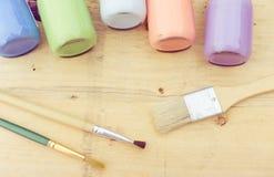 Acrylfarbe Stockfoto