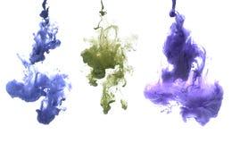 Acrylfarbe im Wasser Stockbilder