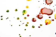 Acrylfarbe plätschert und Stellen für Hintergrund Stockfotografie