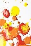 Acrylfarbe plätschert und Stellen für Hintergrund Lizenzfreies Stockbild