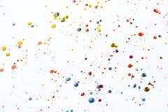 Acrylfarbe plätschert und Stellen für Hintergrund Lizenzfreie Stockbilder