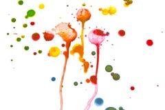 Acrylfarbe plätschert und Stellen für Hintergrund Stockbild