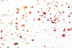 Acrylfarbe plätschert und Stellen für Hintergrund Stockfoto