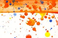 Acrylfarbe plätschert und Stellen für Hintergrund Stockfotos
