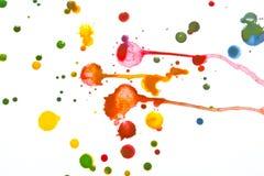 Acrylfarbe plätschert und Stellen für Hintergrund Lizenzfreie Stockfotografie