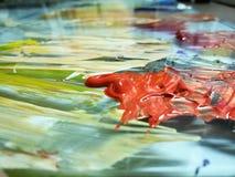 Acrylfarben Stockfoto