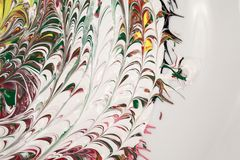 Acrylfarben - Beschaffenheit und Farben Lizenzfreie Stockbilder