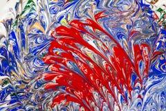 Acrylfarben - Beschaffenheit und Farben Stockfotografie