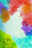 Acrylfarben im Wasser Stockfotografie