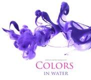 Acrylfarben im Wasser Stockbilder