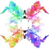 Acrylfarben im Wasser Stockbild