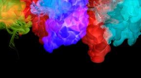 Acrylfarben im Wasser. Abstrakter Hintergrund. Lizenzfreies Stockbild