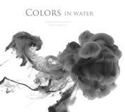 Acrylfarben im Wasser entziehen Sie Hintergrund Stockbilder
