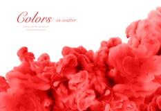 Acrylfarben im Wasser entziehen Sie Hintergrund Lizenzfreie Stockfotos