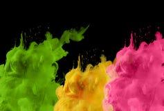 Acrylfarben im Wasser Tintenfleck entziehen Sie Hintergrund Lizenzfreies Stockfoto