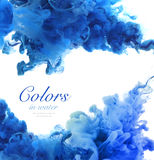 Acrylfarben und Tinte im Wasser Lizenzfreie Stockfotos