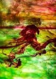 Acrylfarben und Tinte im Wasser Stockfotos