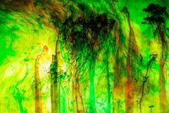 Acrylfarben und Tinte im Wasser Lizenzfreies Stockfoto