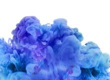 Acrylfarben und Tinte im Wasser Entziehen Sie Feldhintergrund Lizenzfreie Stockfotos