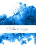 Acrylfarben und Tinte im Wasser Entziehen Sie Feldhintergrund Isolator Lizenzfreies Stockbild