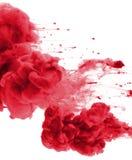 Acrylfarben und Tinte im Wasser entziehen Sie Hintergrund Stockfotografie