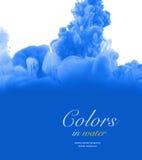 Acrylfarben und Tinte im Wasser entziehen Sie Hintergrund Lizenzfreies Stockfoto