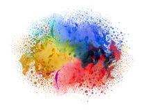 Acrylfarben und Tinte im Wasser entziehen Sie Hintergrund Lizenzfreie Stockfotografie