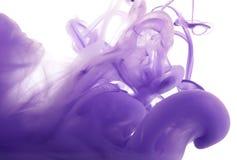 Acrylfarben und Tinte im Wasser entziehen Sie Hintergrund Stockfotos