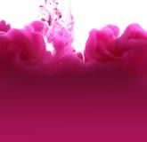 Acrylfarben und Tinte im Wasser entziehen Sie Hintergrund Stockbilder