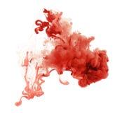 Acrylfarben und Tinte im Wasser entziehen Sie Hintergrund Lizenzfreie Stockfotos