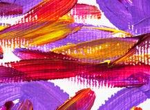 Acrylhintergrundbeschaffenheitsfarbkunst-Malereibürste Stockfoto