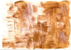 Acrylic abstract golden bronze silver background stock photography