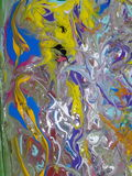 Acrylic colored  abstract painting Stock Image