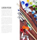 Acrylic colors Stock Image