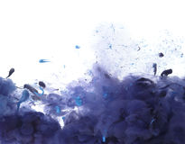 Acrylic colors and ink in water. Stock Image