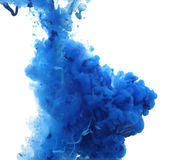 Acrylic colors and ink in water. Royalty Free Stock Image