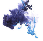 Acrylic colors and ink in water. Abstract background stock photos