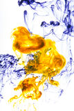 Acrylic colors and ink in water. Abstract background Stock Photography