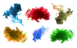 Acrylic colors and ink in water. Abstract background. Royalty Free Stock Image