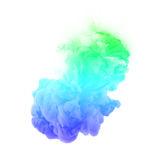 Acrylic colors ink in water. cloud explosion Stock Photos